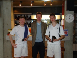 Chris, Julian and Winner Paul Rosedale